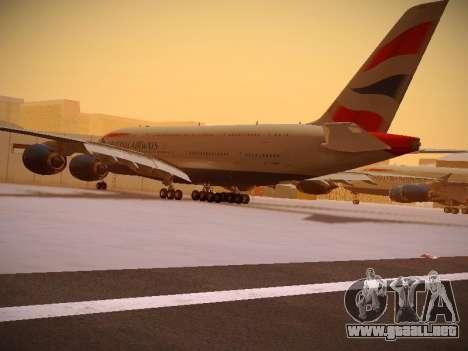 Airbus A380-800 British Airways para vista lateral GTA San Andreas