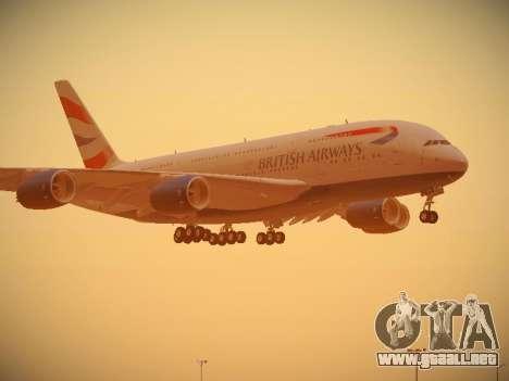 Airbus A380-800 British Airways para las ruedas de GTA San Andreas