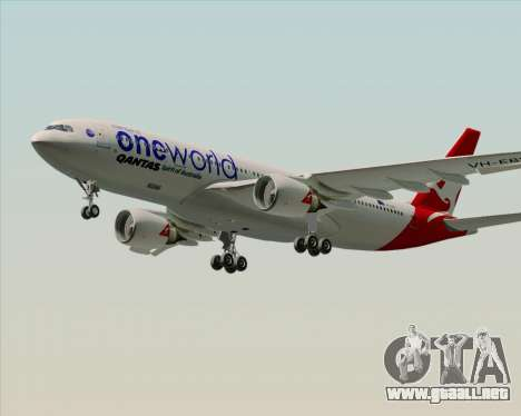 Airbus A330-200 Qantas Oneworld Livery para la visión correcta GTA San Andreas