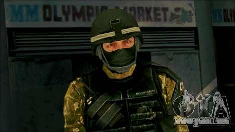 Soldier from Prototype 2 para GTA San Andreas tercera pantalla