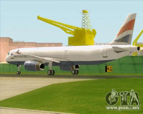 Airbus A321-200 British Airways para la visión correcta GTA San Andreas