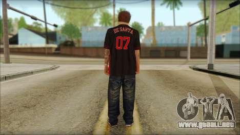 Jimmy De Santa para GTA San Andreas segunda pantalla