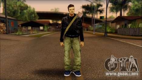 Gun and No Shades Claude para GTA San Andreas