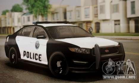 Vapid Police Interceptor from GTA V para GTA San Andreas interior