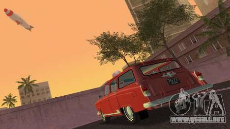GAS 22 Volga 1965 para GTA Vice City vista lateral izquierdo