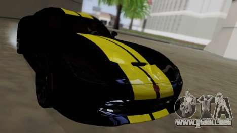 Dodge Viper SRT GTS 2013 Road version para la vista superior GTA San Andreas