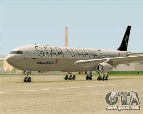 Airbus A340-311 Turkish Airlines (Star Alliance) para visión interna GTA San Andreas