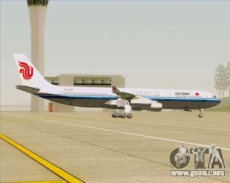 Airbus A340-313 Air China para visión interna GTA San Andreas