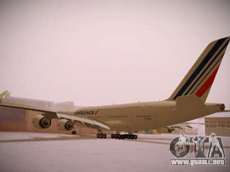 Airbus A380-800 Air France para GTA San Andreas vista hacia atrás