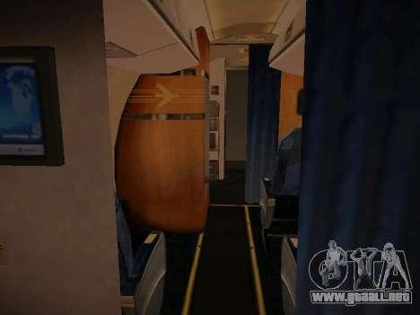 Embraer E190 TRIP Linhas Aereas Brasileira para la vista superior GTA San Andreas