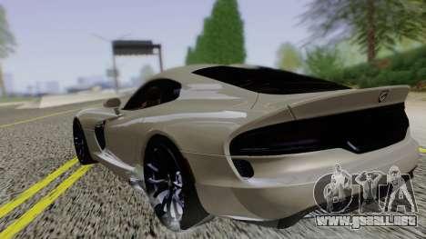 Dodge Viper SRT GTS 2013 Road version para GTA San Andreas left