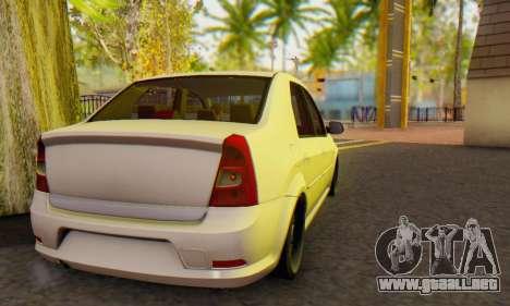 Dacia Logan White para la visión correcta GTA San Andreas