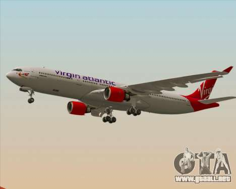Airbus A330-300 Virgin Atlantic Airways para vista inferior GTA San Andreas