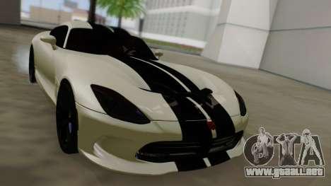 Dodge Viper SRT GTS 2013 Road version para vista inferior GTA San Andreas