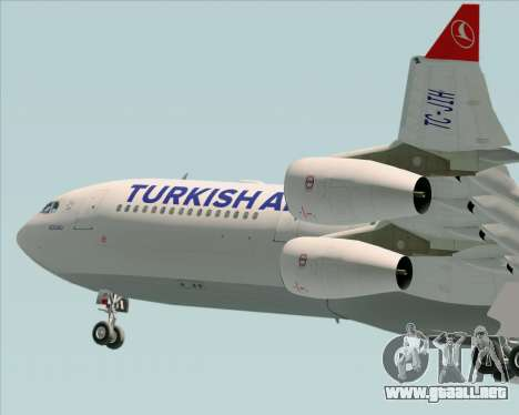 Airbus A340-313 Turkish Airlines para vista inferior GTA San Andreas