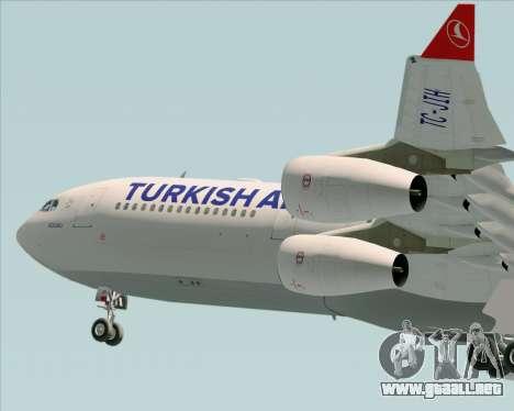 Airbus A340-313 Turkish Airlines para vista inferior GTA San Andreas