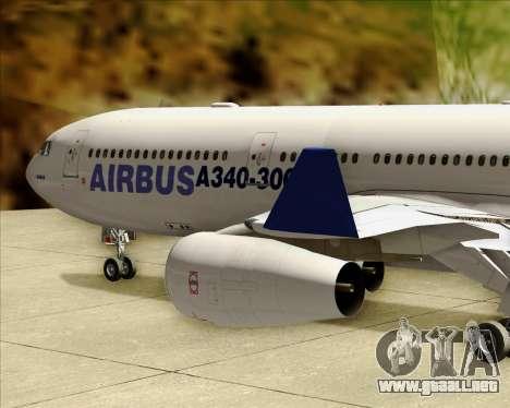Airbus A340-311 House Colors para la vista superior GTA San Andreas