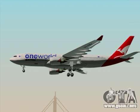 Airbus A330-200 Qantas Oneworld Livery para vista inferior GTA San Andreas