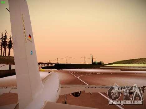 Airbus A310 MRTT Luftwaffe (German Air Force) para GTA San Andreas vista hacia atrás