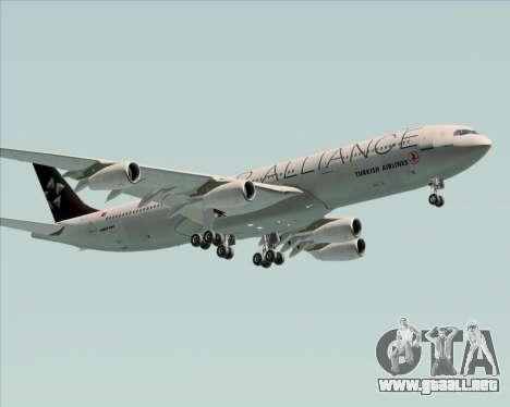Airbus A340-311 Turkish Airlines (Star Alliance) para GTA San Andreas interior