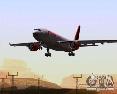 Airbus A330-243F Avianca Cargo para la vista superior GTA San Andreas
