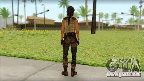 Tomb Raider Skin 15 2013 para GTA San Andreas segunda pantalla