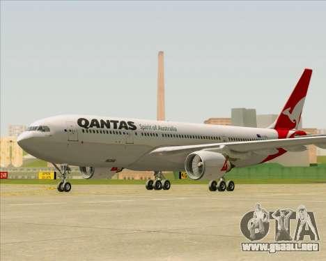 Airbus A330-200 Qantas para GTA San Andreas vista posterior izquierda