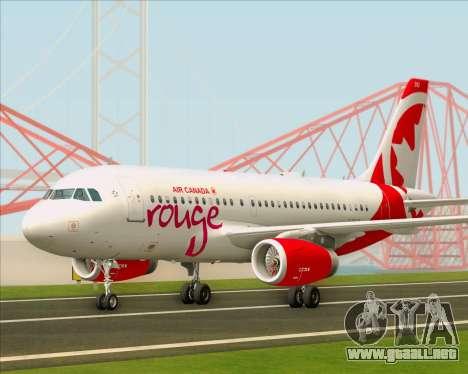 Airbus A319 Air Canada Rouge para GTA San Andreas left