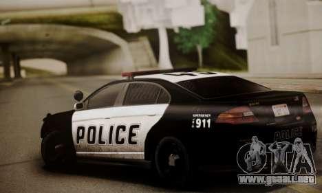 Vapid Police Interceptor from GTA V para GTA San Andreas vista posterior izquierda