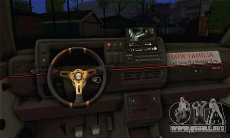 Volkswagen Golf Mk2 Low Life para GTA San Andreas vista posterior izquierda