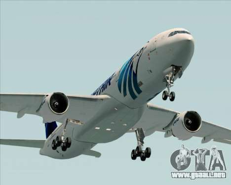Airbus A330-300 EgyptAir para la vista superior GTA San Andreas