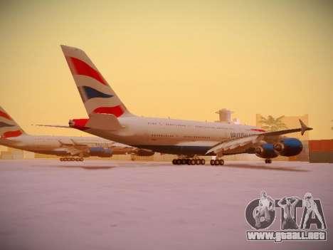 Airbus A380-800 British Airways para la vista superior GTA San Andreas