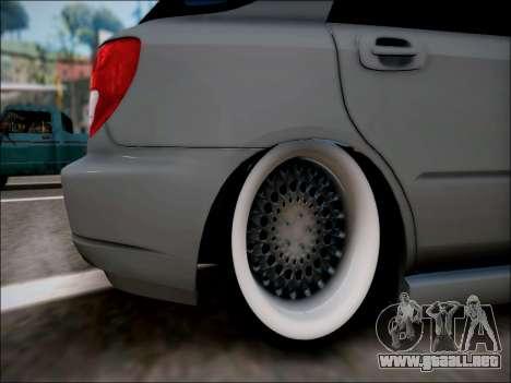 Subaru Impreza Wagon 2002 para la visión correcta GTA San Andreas