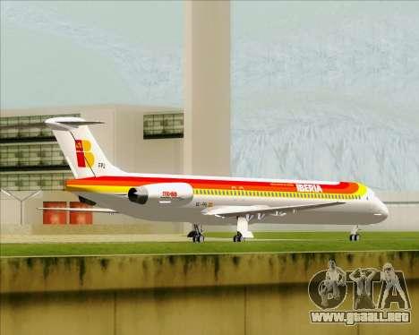 McDonnell Douglas MD-82 Iberia para GTA San Andreas vista hacia atrás