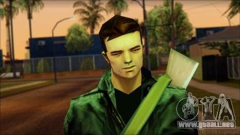 Gun and No Shades Claude para GTA San Andreas tercera pantalla