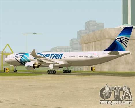 Airbus A330-300 EgyptAir para la visión correcta GTA San Andreas