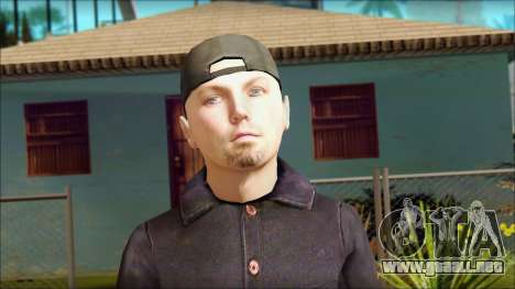 Fred Durst from Limp Bizkit v1 para GTA San Andreas tercera pantalla