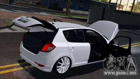 Kia Ceed para vista lateral GTA San Andreas