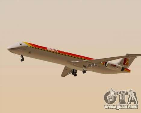McDonnell Douglas MD-82 Iberia para GTA San Andreas vista posterior izquierda