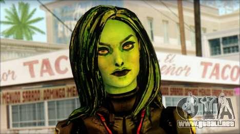 Guardians of the Galaxy Gamora v1 para GTA San Andreas tercera pantalla