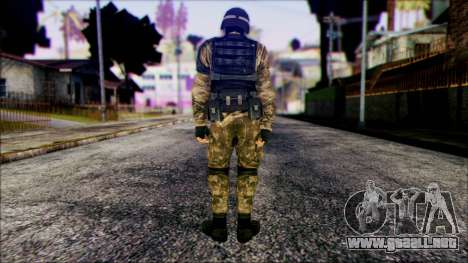 Soldier from Prototype 2 para GTA San Andreas segunda pantalla
