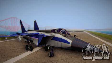 MIG-31 from H.A.W.X. para GTA San Andreas