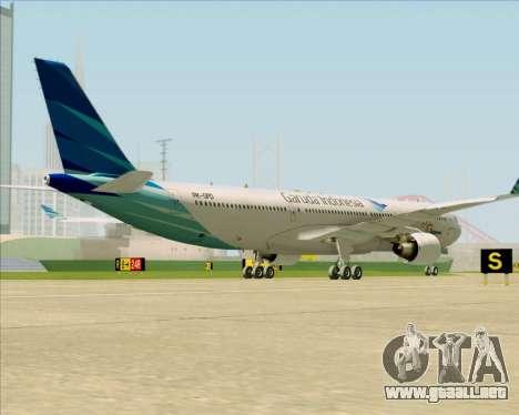 Airbus A330-300 Garuda Indonesia para la visión correcta GTA San Andreas