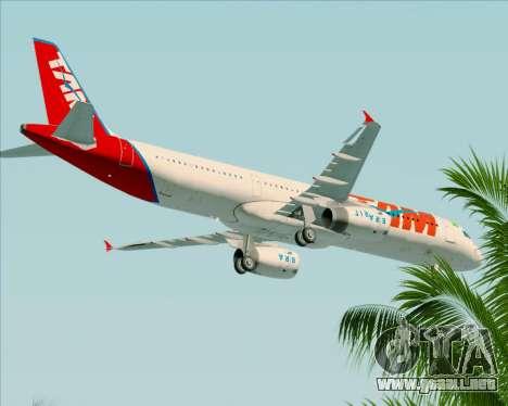 Airbus A321-200 TAM Airlines para la vista superior GTA San Andreas