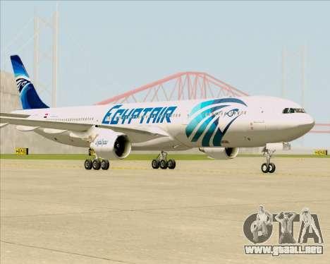 Airbus A330-300 EgyptAir para GTA San Andreas vista posterior izquierda