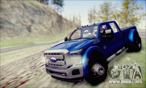 Ford F450 Super Duty 2013 HD para la visión correcta GTA San Andreas