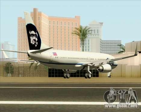 Boeing 737-890 Alaska Airlines para la visión correcta GTA San Andreas