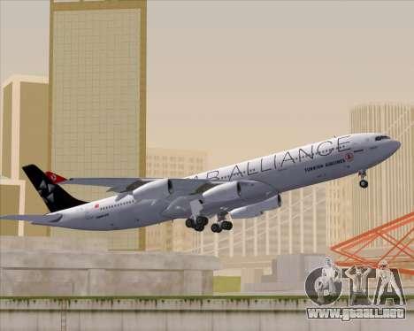 Airbus A340-311 Turkish Airlines (Star Alliance) para vista lateral GTA San Andreas