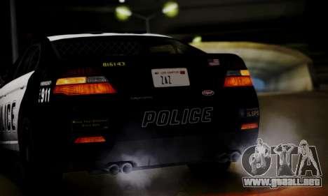 Vapid Police Interceptor from GTA V para vista lateral GTA San Andreas