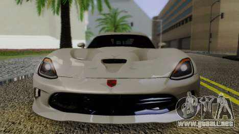 Dodge Viper SRT GTS 2013 Road version para la visión correcta GTA San Andreas